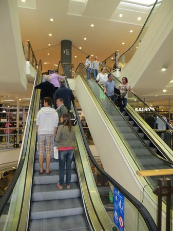Arnotts Department Store: Escalators provide easy access to the various departments