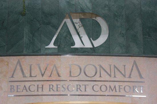 Alva Donna Beach Resort Comfort: название отеля