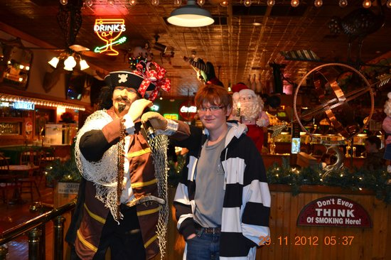 Preston's Family Seafood Restaurant: Noah and the pirate