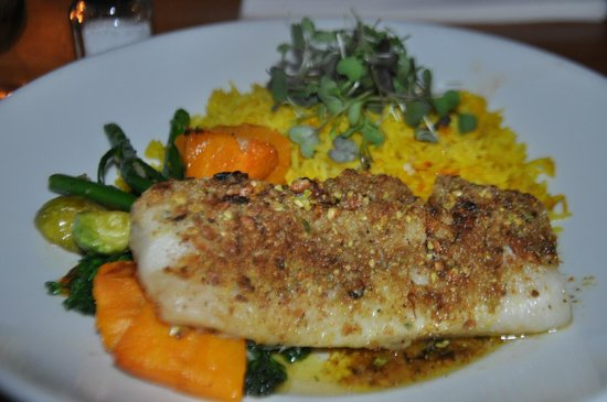 Matunuck Oyster Bar: fillet of fish with rice