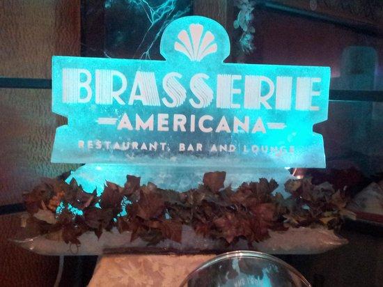 Brasserie Americana Restaurant, Bar and Lounge: Brasserie Americana Ice Sculpture