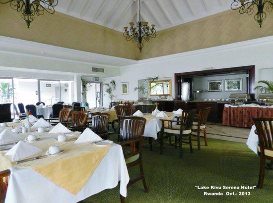 Lake Kivu Serena Hotel: Donde dan el desayuno