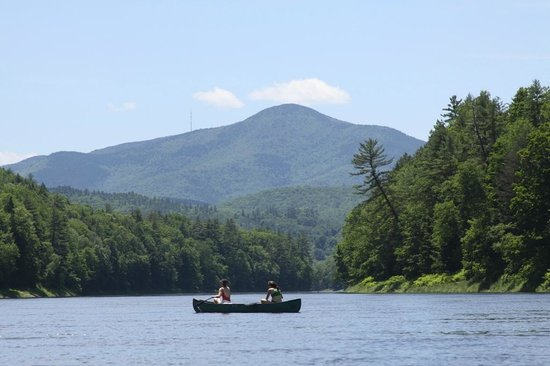 North Star Canoe & Kayak - Day Tours: View of Mount Ascutney from Sumners Falls