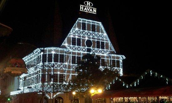 Castelinho da Havan: Decoração de Natal