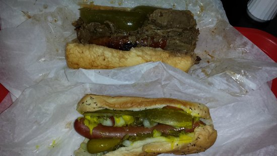 Al's #1 Italian Beef : combo italian sausage and beef and Chicago dog