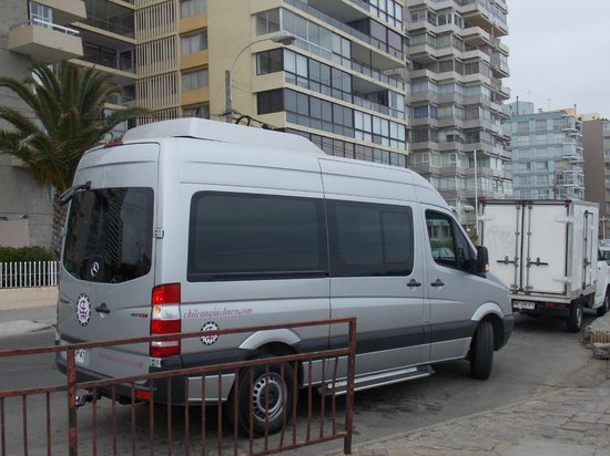 O confortável carro da Chilean Wine Lovers.