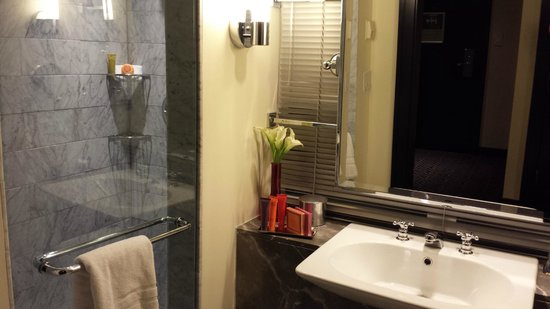 Kimpton Nine Zero Hotel: Room 1805 bathroom... counter space is limited