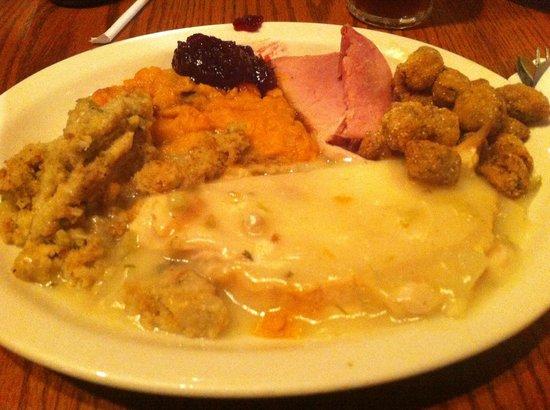 Cracker Barrel: Thanksgiving lunch
