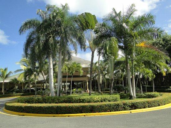 Iberostar Dominicana Hotel: Jardin de la recepcion.