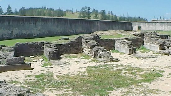 Kingston: Convict cell ruins...part of the brutal story of Norfolk.