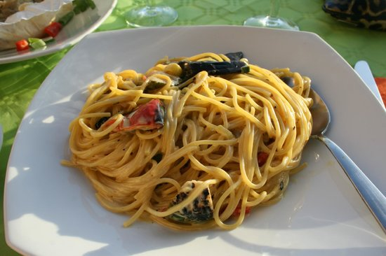 Remvi Restaurant: vegetable pasta with cream sauce