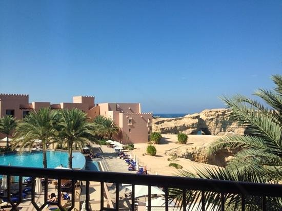 Shangri La Barr Al Jissah Resort & Spa - Al Bandar Hotel : view from balcony of room 1330