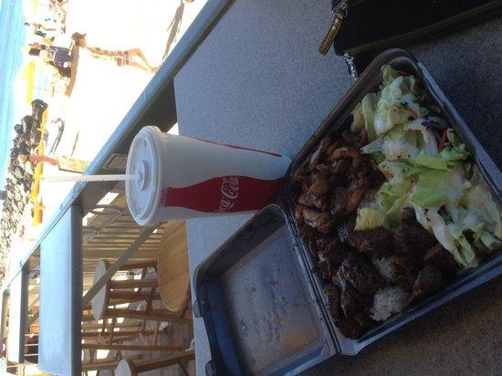 Steak Shack : Good view, good food