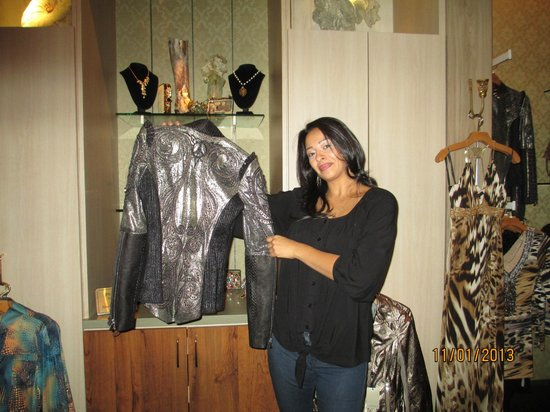 Four Seasons Hotel Las Vegas: Nancy at Nora Blue in Mandalay Bay shoppes. I bought that jacket.