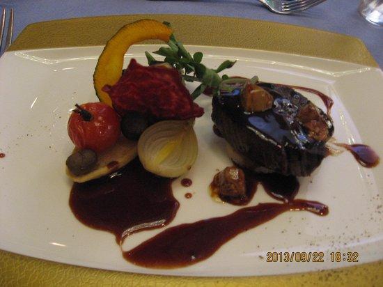 Aoyama Garden Resort Hotel Rosa Blanca: 夕食