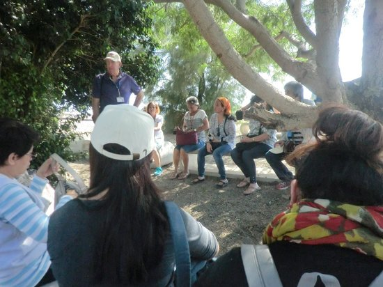 Israel Private Tours: Our group with Moti @ Capernaum