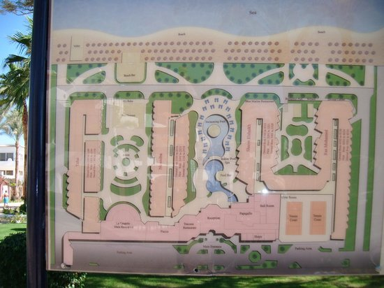 Iberotel Palace: map of thje hotel and grounds