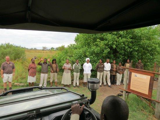 andBeyond Xudum Okavango Delta Lodge: Greeting from staff