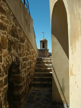 Castle of Good Hope: Looking up toward bell tower.