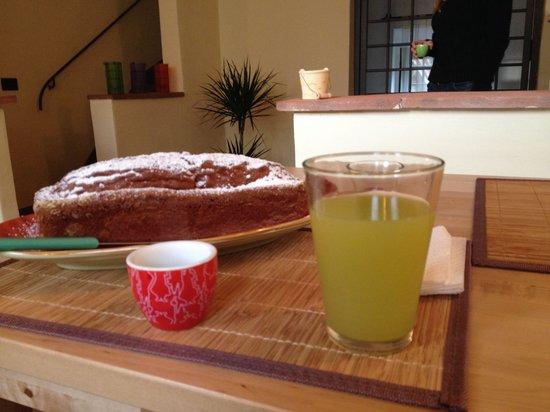 Florence Country Relais : Plumcake cocco e cioccolato a colazione