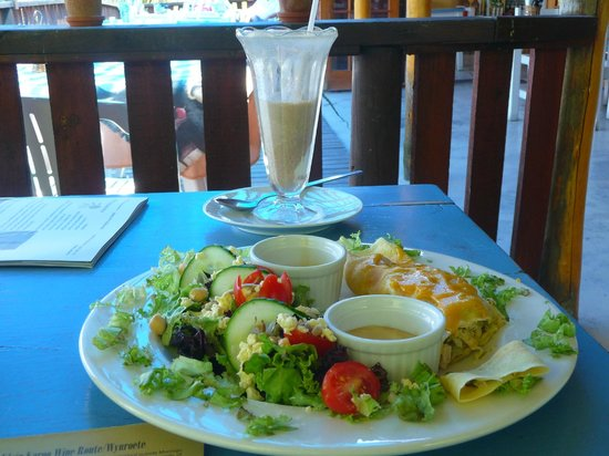 The Blue Cow: Milkshake, salad and pancake Nov 13