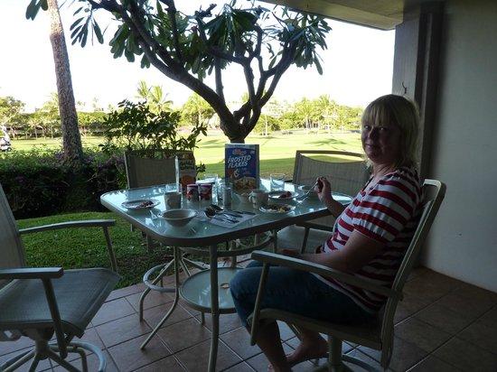 Maui Eldorado: Golf course views from the patio