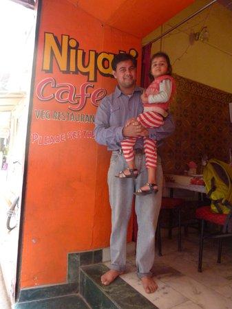 Niyati Cafe : Ravi Prakash & Daughter, Niyati Café, Varanasi