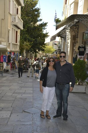 Private Greece Tours : Angelo and I… End of the day!