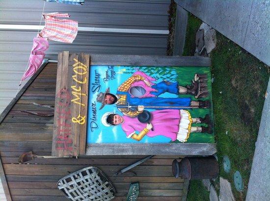 Hatfield & McCoy Dinner Show: Nice photo pop outside