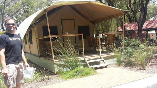 Amblin Holiday Park : Safari tent bungalow @ $100 per night