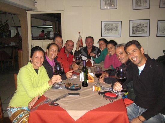 El Churrasco Hotel Restaurante: Cena, después de comernos unos churrascos, uhmmmm