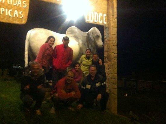 El Churrasco Hotel Restaurante: cuando llegamos de noche, qué frío!!!