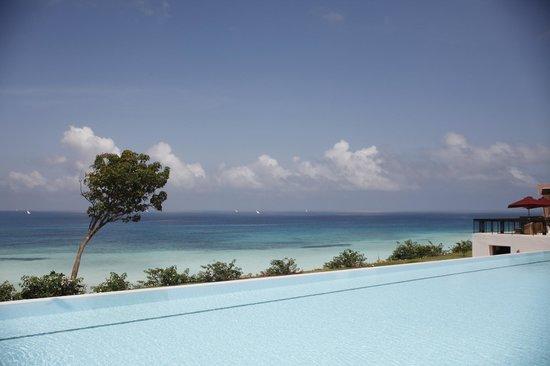 Hideaway of Nungwi Resort & Spa: vue piscine et océan