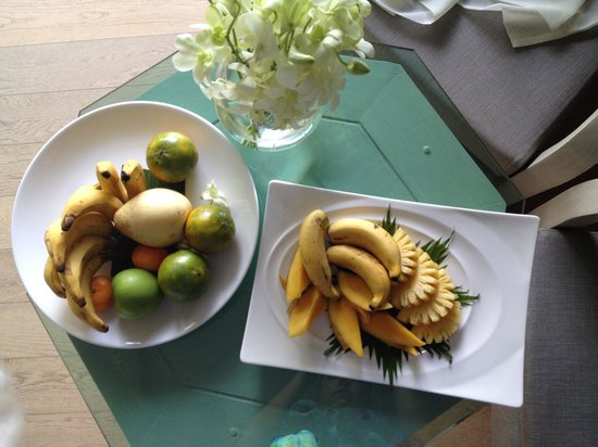 The Shore at Katathani: Welcome fruits the first day