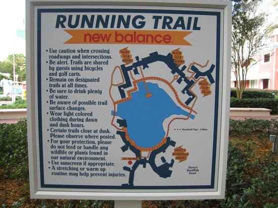 Disney's BoardWalk Inn: Running Trails