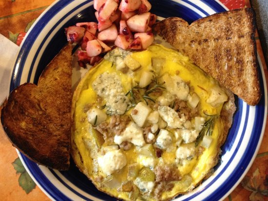 Morning at Maggie's Omelette Shoppe : Gorgonzola Pear Rosemary Frittata