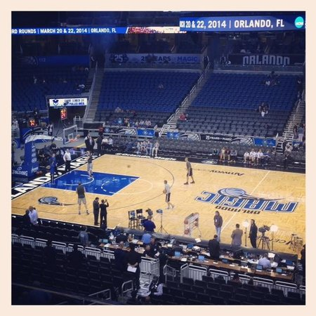 Amway Center: View from Club Level, Sec C Row 3, Seats 5&6