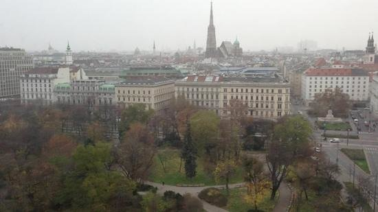Hilton Vienna: view from our hotel room