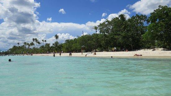 Hotel Villa Iguana: öffentlicher Strand Bayahibe