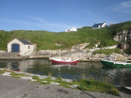Ballintoy Harbour: safely at harbor