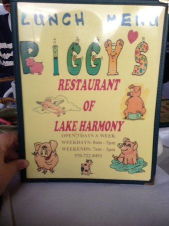 Piggy's Restaurant: One of two menu styles