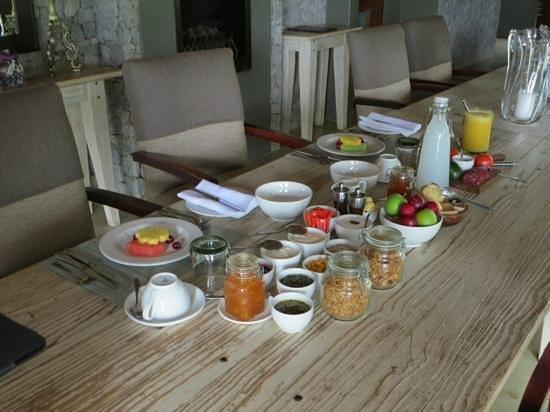 Dulini Leadwood Lodge: Frühstücksbüffet nur für uns zwei