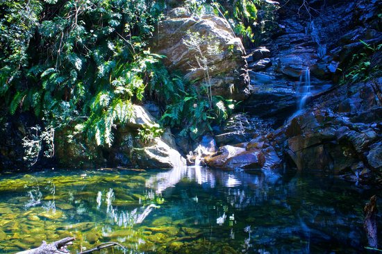 Wild Spirit Lodge and Backpackers: The waterfall