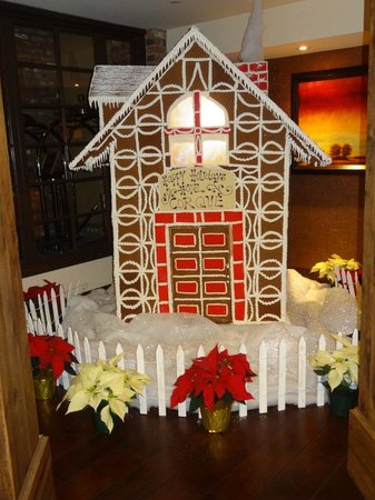 Hotel Corque: A life-sized Gingerbread House in the lobby.