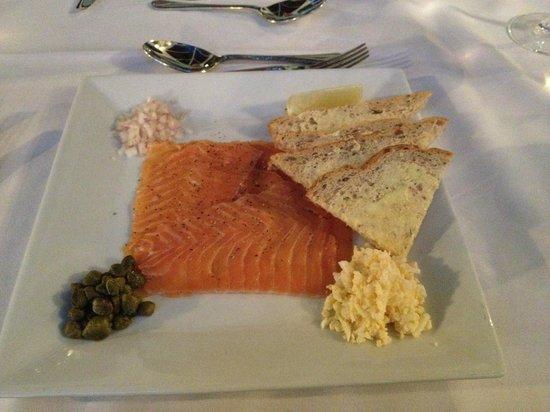Best Western Buxton Lee Wood Hotel: Smoked Salmon Starter Platter