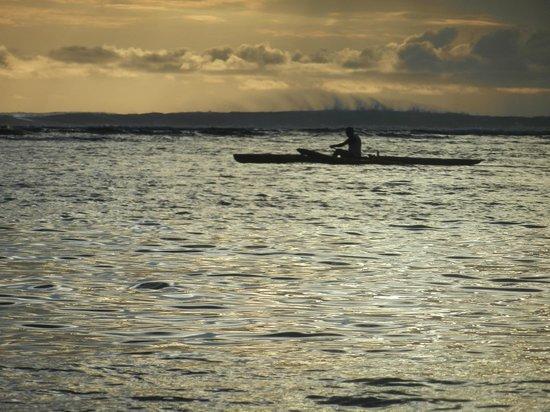 Le Nautile : Coucher de soleil sur le lagon