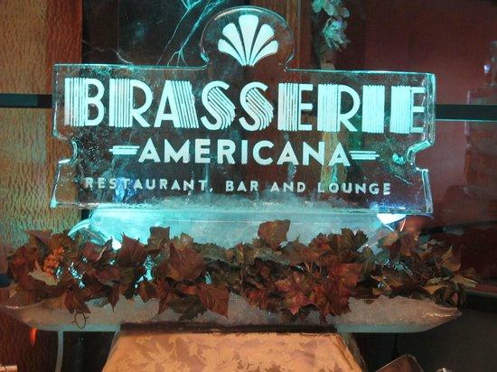 Brasserie Americana Restaurant, Bar and Lounge : Ice Sculpture Thanksgiving 2013