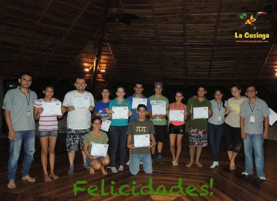 La Cusinga Eco Lodge: Our team always working hard to be better at what we do.