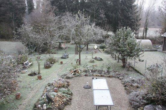 Le Jardin de l'Ill : le jardin bien givré