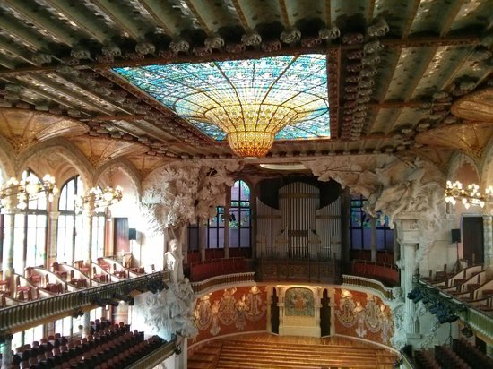 Palais de la Musique Catalane (Palau de la Musica Catalana) : Inside the Audirorium